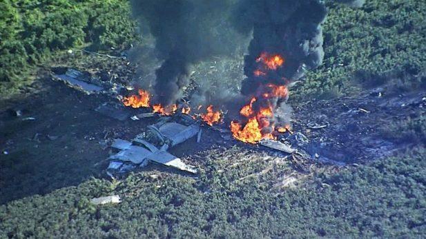 Cinco personas mueren al estrellarse avión militar de EEUU — AVANCE