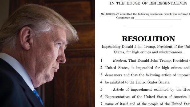 Presentan petición de 'impeachment' contra Donald Trump