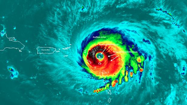 Huracán Irma destruye el 90% de la isla de Barbuda