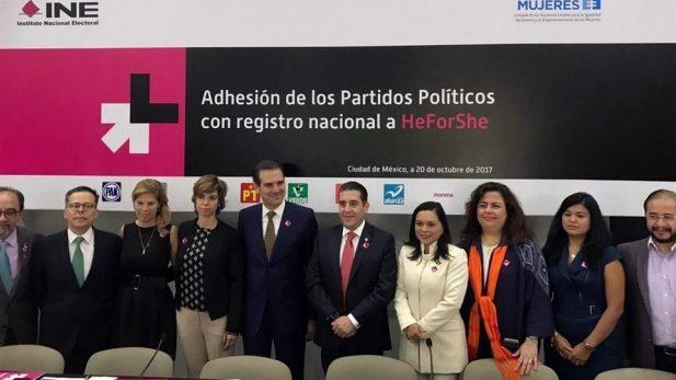 Partidos se alían para garantizar igualdad de género en elecciones
