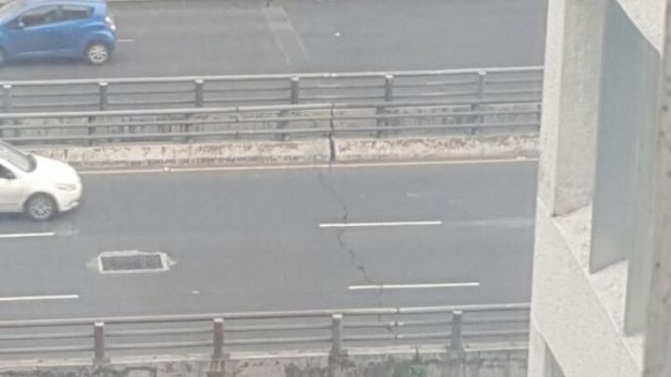 #NoMásFakes: se difunde en redes una grieta en el segundo piso que ya fue atendida