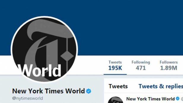 Bloqueo de una cuenta del New York Times fue un error: Twitter