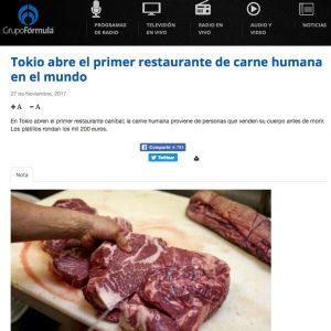 Falso que exista un lugar en Tokio que venda carne humana