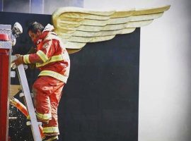 Fake News bombero ángel CDMX