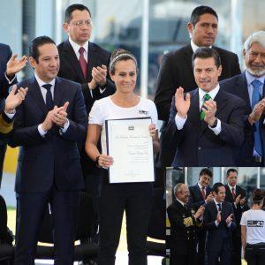 Fuerte irritación de ojos durante un evento del Presidente en Querétaro