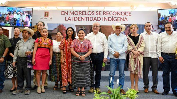 Rigoberta Menchú presencia creación de municipios indígenas en Morelos