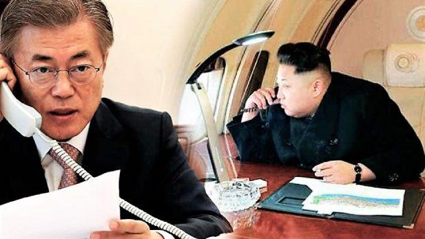 Inicia histórica conexión telefónica directa ente líderes de ambas Coreas