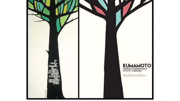 Denuncian plagio en el diseño publicitario de la campaña de Kumamoto
