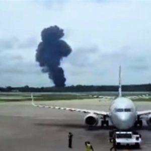 Se estrella avión mexicano fletado por Cubana de Aviación, por La Habana